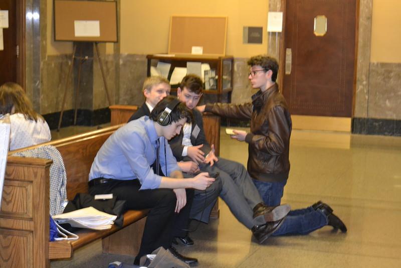 Trial team on break