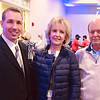 From left, YMCA President and CEO Kevin Morrissey of Chelmsford, Diane Conservan of Andover and Jack Lougee of Lowell