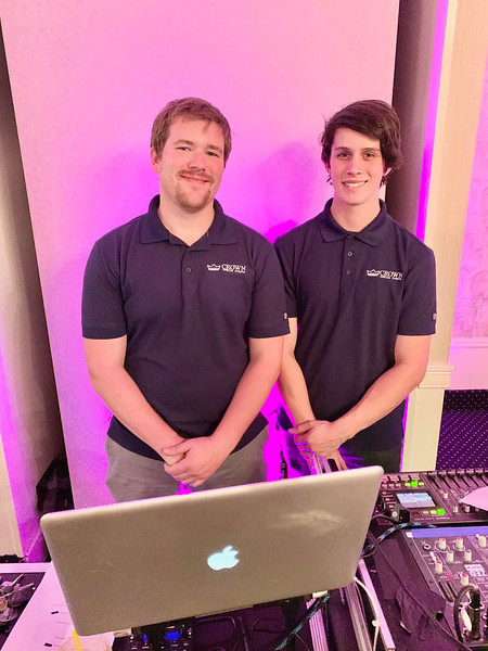 Crown Special Events' Tom Stults of Amesbury and Bradley Molyneaux of Billerica