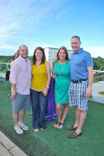 Carlie and Levi Daniel, Micah and Anya Ansley