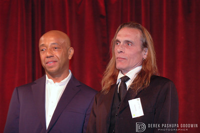 David Life and Russel Simmons at the 2008 Farm Sanctuary Gala in NYC