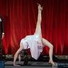 Sharon Gannon performs an urdhva dhanurasana on stage with David Life at the 2008 Farm Sanctuary Gala in NYC