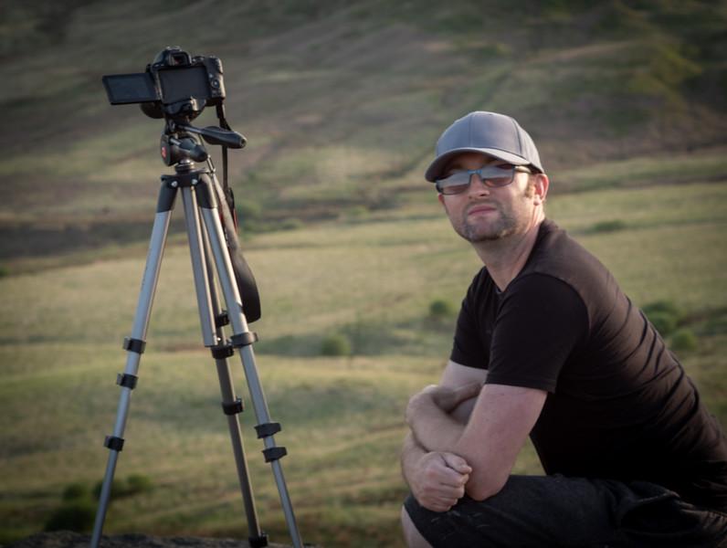 Shooting time lapse video at Buckstones, Marsden