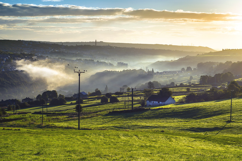Misty morning over Sowerby