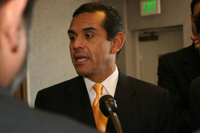 LA's New mayor Antolnio R. Villaraigosa   Here is a link to spell check it... http://www.lacity.org/