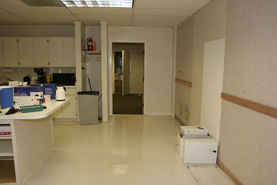 More Break Room... those cabinets with the cell phones and t-shirts....ALL GONE !