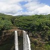 zoom up and out Wailua falls AAA-converted