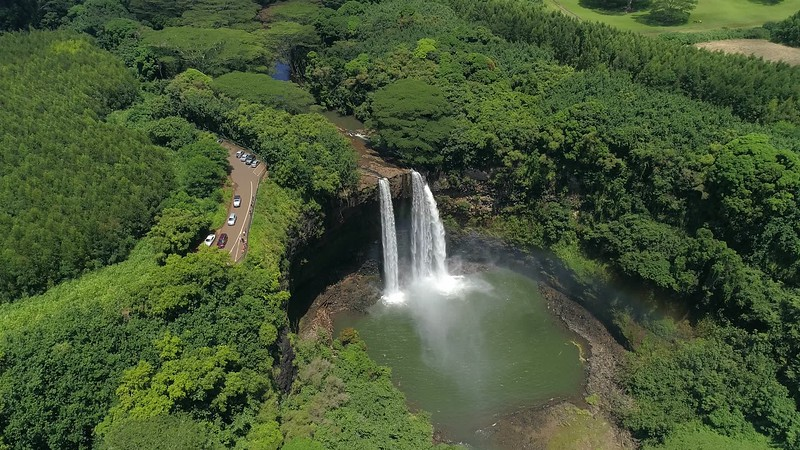 High Wailua falls