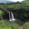 Hover over Wailua falls high