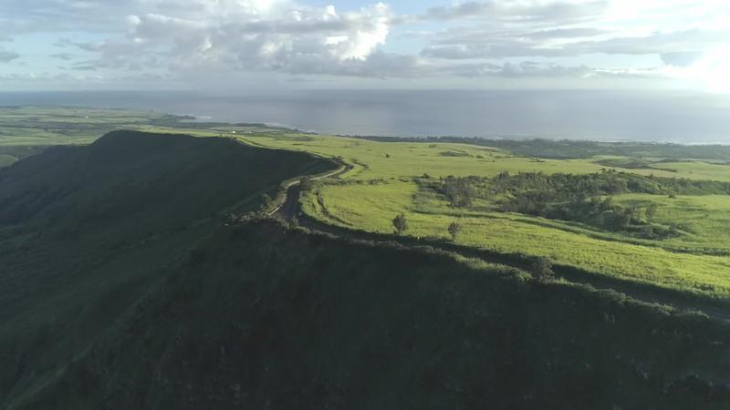Waimea Hills sunny following cars