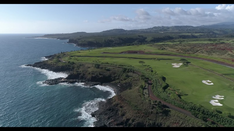 Golf coarse west of Poipu