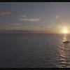 Sailboat at sunset A