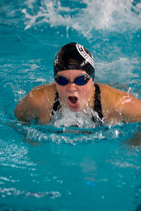 JOSH KAUFMANN, St. Albans Messenger Shaana Staab of Manchester's Triton Swim Team races in the 12-and-under 100-yard butterfly at Saturday's Vermont Swim Association state championships in White River Junction. Staab finished third in the event.