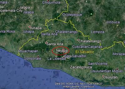YS1YS location in El Salvador
