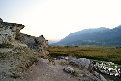 The Soda Butte in Lamar Valley-Still has active thermal flows