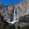 Upper Yosemite Fall shot from across the meadow with 80mmf/4