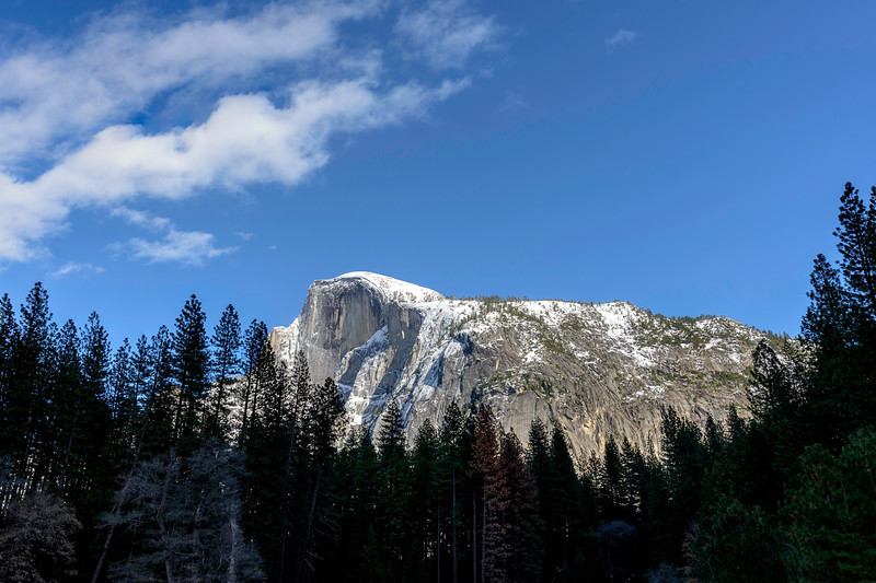 Half Dome view on my return to camp after a full day 2/28/17