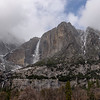 Upper & Lower Yosemite Falls, shot near Sentinel Bridge.