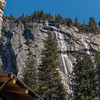 Falls behind the Ahwahnee