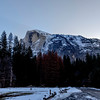 Early start to a new day 2/28/17 ... Half Dome is alway present, to the right is Curry Village, down the road and to the right is where I am camped at Upper Pines Campground.