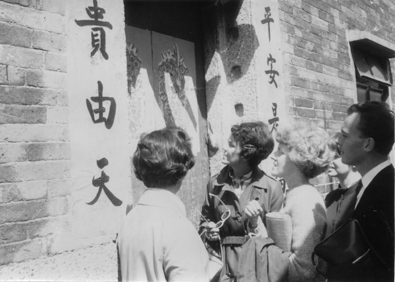 Door to door. Jannie Rogers with sunglasses with Carol Hayes her right