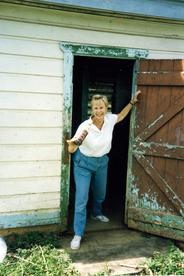 Darlene charges out the door at 1993 Tonga LTS