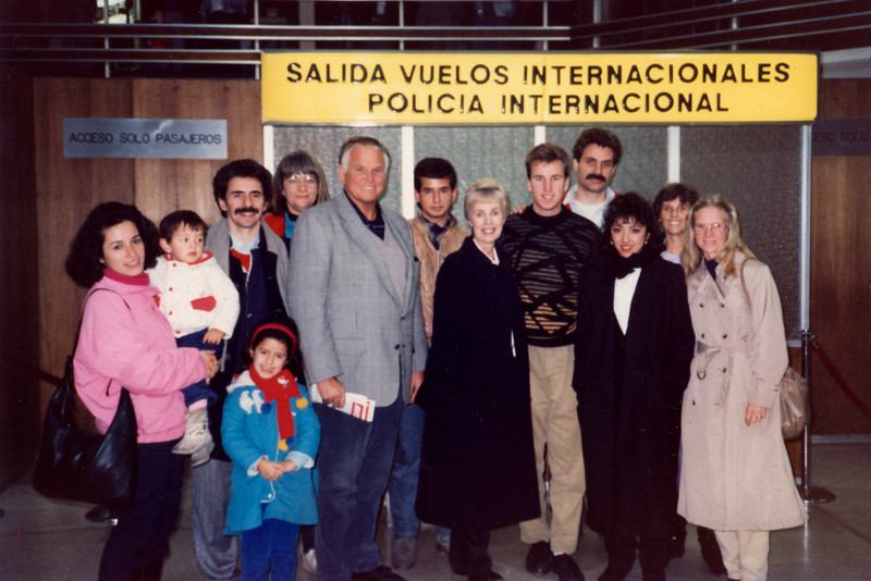 Cunninghams among friends in Chile in 1991