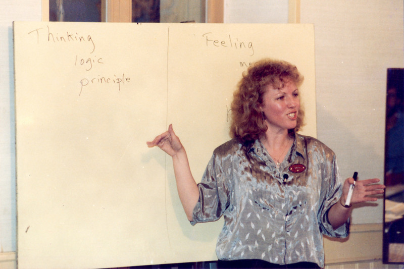 Sarah Lanier at 1988 DTS Leaders Workshop in Lausanne.