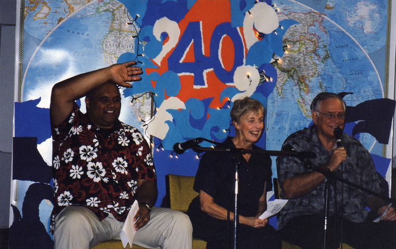 Frank Naea, Darlene and Loren share at YWAM's 40th anniversary in New Zealand