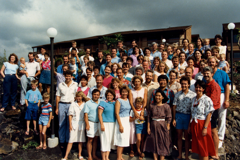 1988 or 89 LTS students and staff in Kona