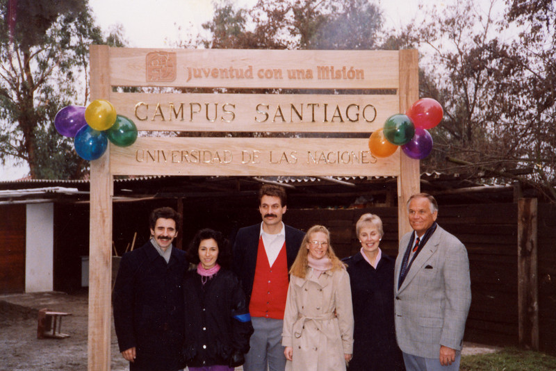 1991 Santago Chile. Ricardo and Luiza Rodriguez,Loren and Darlene,David and Christine Hamilton