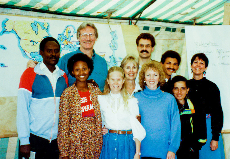 Method and Mary Kamanzi,Floyd McClung,Darlene,David Hamilton,Sarah Lanier,Edwin Fillies,Maida Wissa, Dawn Gauslin at 1992 Nairobi, Kenya LTS