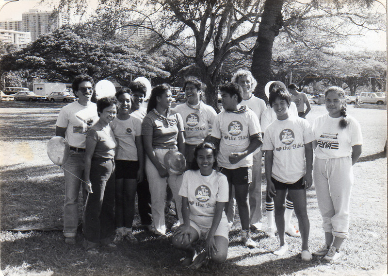 IMPACT team visits Samoa after hurricane in 1986