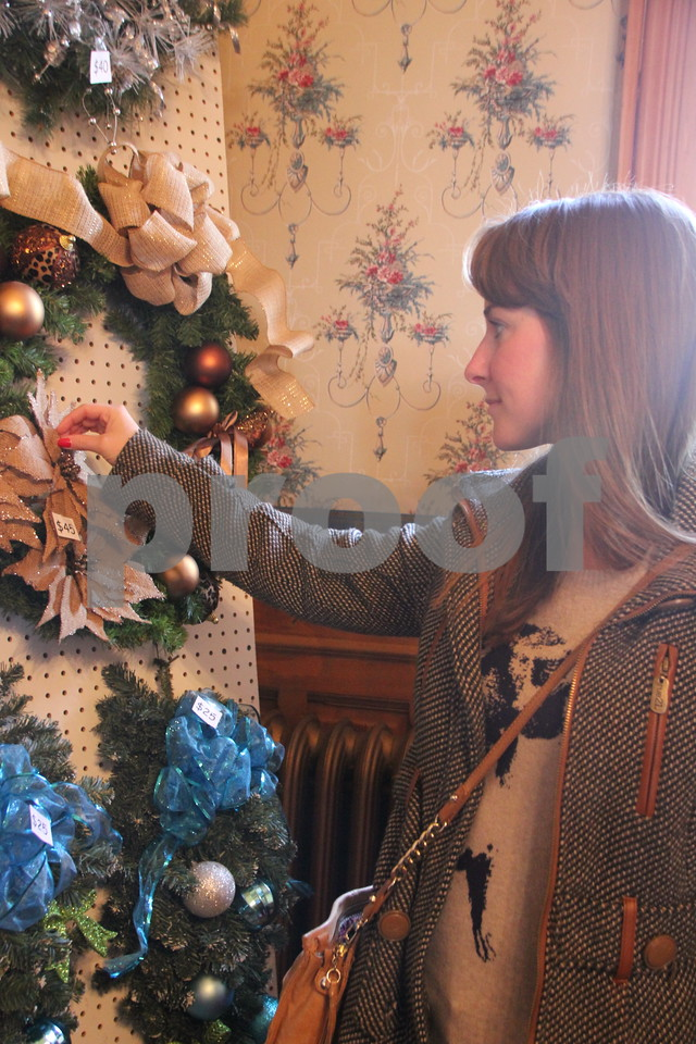 The YWCA Christmas Shoppe event was held at the Vincent House in Fort Dodge on Saturday, November 14, 2015. The event will come to a close on Sunday, November 15, 2015. Kayli Julander, who attended the event, is seen pictured here.