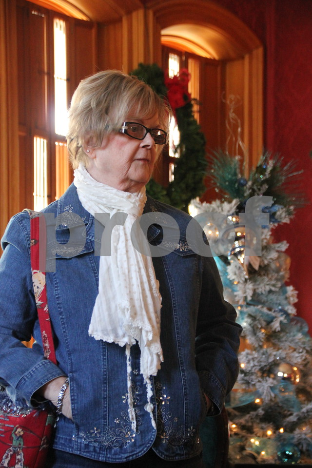 Seen here is : Marjorie Franks, who attended the recent event at the  Vincent House. The YWCA Christmas Shoppe event was held at the Vincent House in Fort Dodge on Saturday, November 14, 2015. The event will come to a close on Sunday, November 15, 2015.