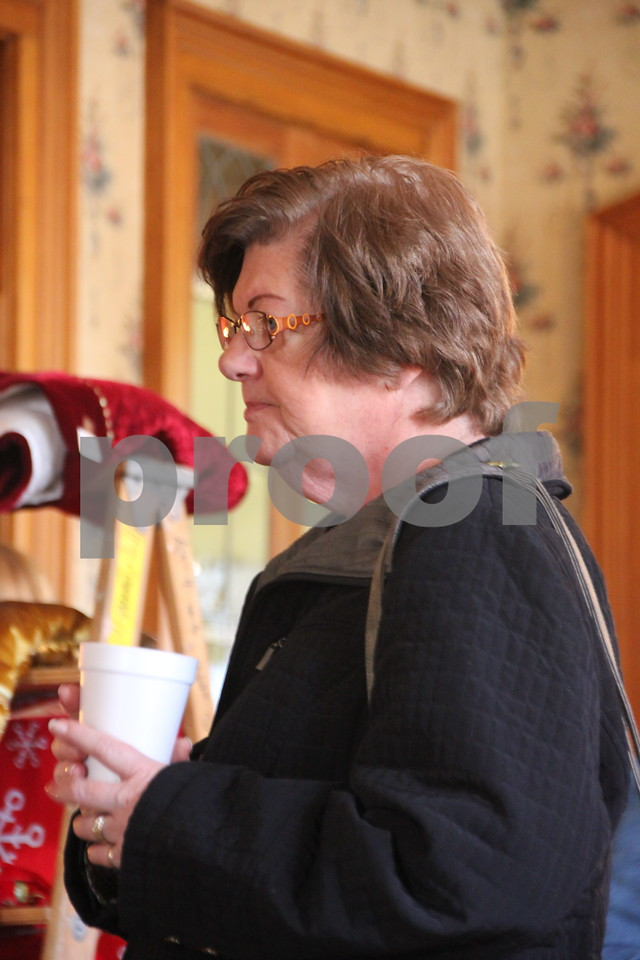 Pictured here is : Anne West, one of several people who attended the recent event at the Vincent House. The YWCA Christmas Shoppe event was held at the Vincent House in Fort Dodge on Saturday, November 14, 2015. The event will come to a close on Sunday, November 15, 2015.