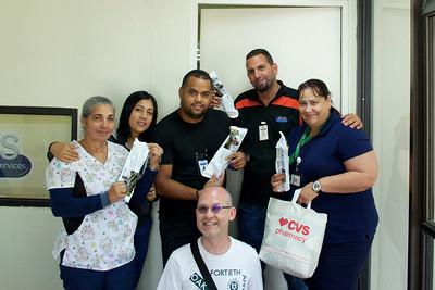 Sala De Emergencia staff accepting Life Straw donation, Yabucoa, Puerto Rico
