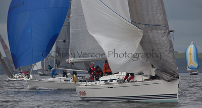 Sailing at the 2012 Cork Sailing Regatta hosted by the Royal Cork Sailing Club at Crosshaven, Ireland . Cathy Vercoe LuvMyBoat.com