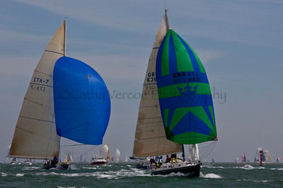 Italia And Domaine Sailing At The 2012 Aberdeen Asset Management Cowes Sailing Week. Cathy Vercoe LuvMyBoat.com