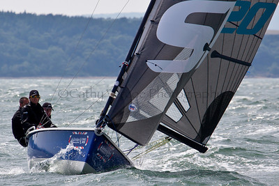 SB20 Sailing At The 2012 Aberdeen Asset Management Cowes Sailing Week. Cathy Vercoe LuvMyBoat.com