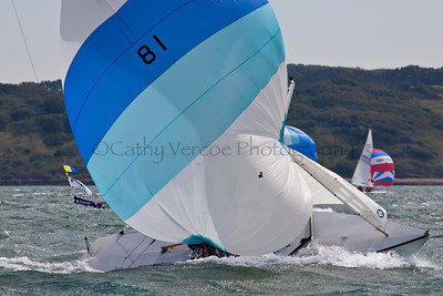 Goosander Sailing At The 2012 Aberdeen Asset Management Cowes Sailing Week. Cathy Vercoe LuvMyBoat.com