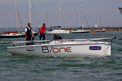 Hyde B/One Sailing At The 2012 Aberdeen Asset Management Cowes Sailing Week. Cathy Vercoe LuvMyBoat.com