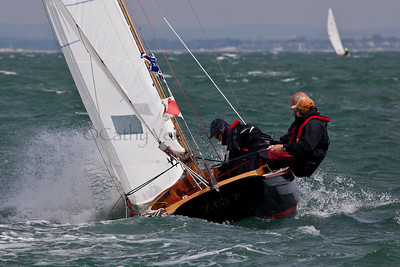 Victory Class Sailing At The 2012 Aberdeen Asset Management Cowes Sailing Week. Cathy Vercoe LuvMyBoat.com