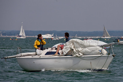 Sailing At The 2012 Aberdeen Asset Management Cowes Sailing Week. Cathy Vercoe LuvMyBoat.com