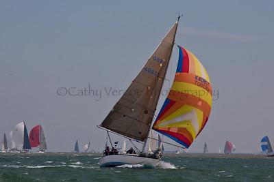 Crakajax Sailing At The 2012 Aberdeen Asset Management Cowes Sailing Week. Cathy Vercoe LuvMyBoat.com