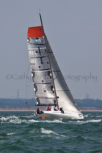 Roaring Forty 2 Sailing At The 2012 Aberdeen Asset Management Cowes Sailing Week. Cathy Vercoe LuvMyBoat.com