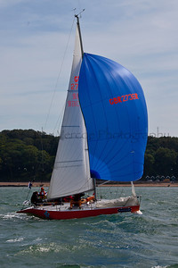 Joker Sailing At The 2012 Aberdeen Asset Management Cowes Sailing Week. Cathy Vercoe LuvMyBoat.com