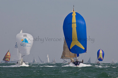 Sublime And Merhaba Sailing At The 2012 Aberdeen Asset Management Cowes Sailing Week. Cathy Vercoe LuvMyBoat.com