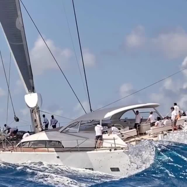 "Vitters Shipyard S/Y ""Unfurled"" racing at Saint Barth Bucket"