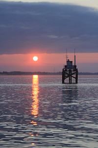 Sunrise leaving Lymington